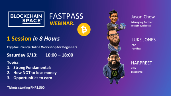 BlockchainSpace is Hosting FastPass - Online Workshop for Cryptocurrency Beginners