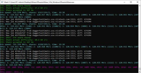 720 MHs Ethereum Mining Rig With 6x MSI GeForce RTX 3090 SUPRIM X 24G GPUs