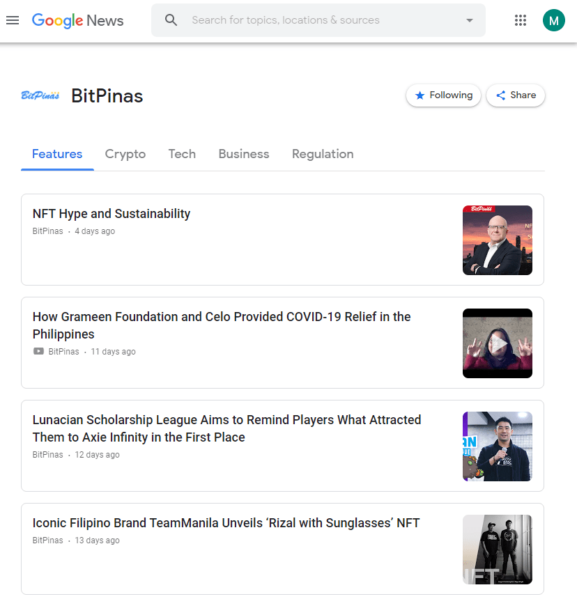 Find Us on Google News