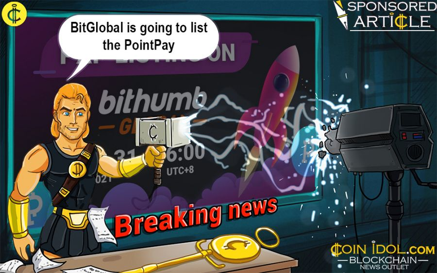Bithumb Global will list PointPay cryptocurrency bank PXP token