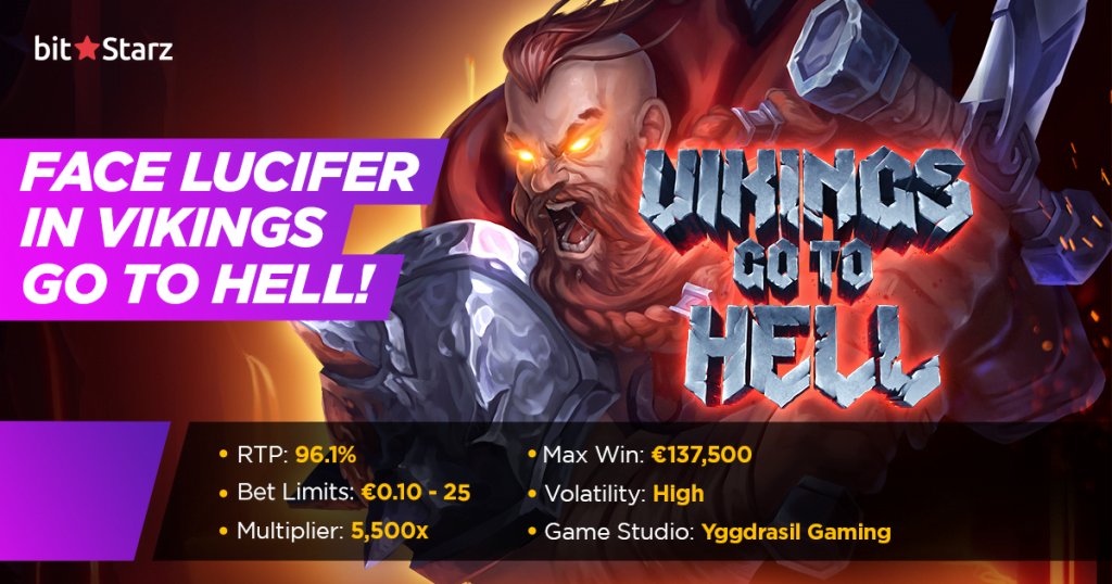 Take on the forces of evil in Vikings Go To Hell slot!