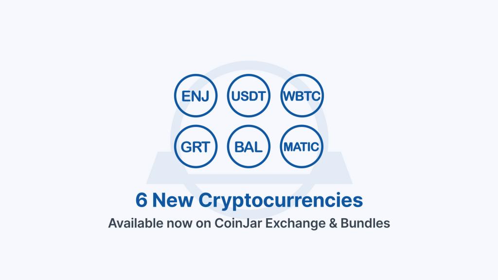 USDT, MATIC, ENJ + more added to CoinJar Exchange and Bundles